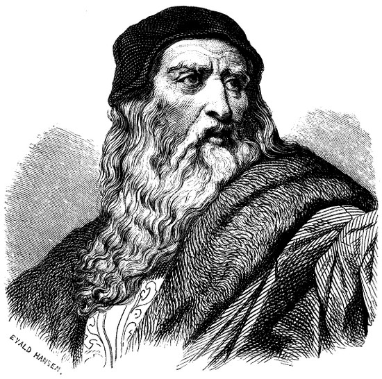 a biography of leonardo born in the town of vinci in the tuscan hills